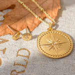 Engravable Large True North Story Necklace