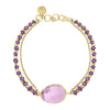 Faceted Bead & Amethyst Jewel Bracelet