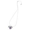 Amethyst & Dove Grey Pearl Extendable Jewel Pendant