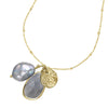 Labradorite & Dove Grey Pearl Extendable Jewel Pendant