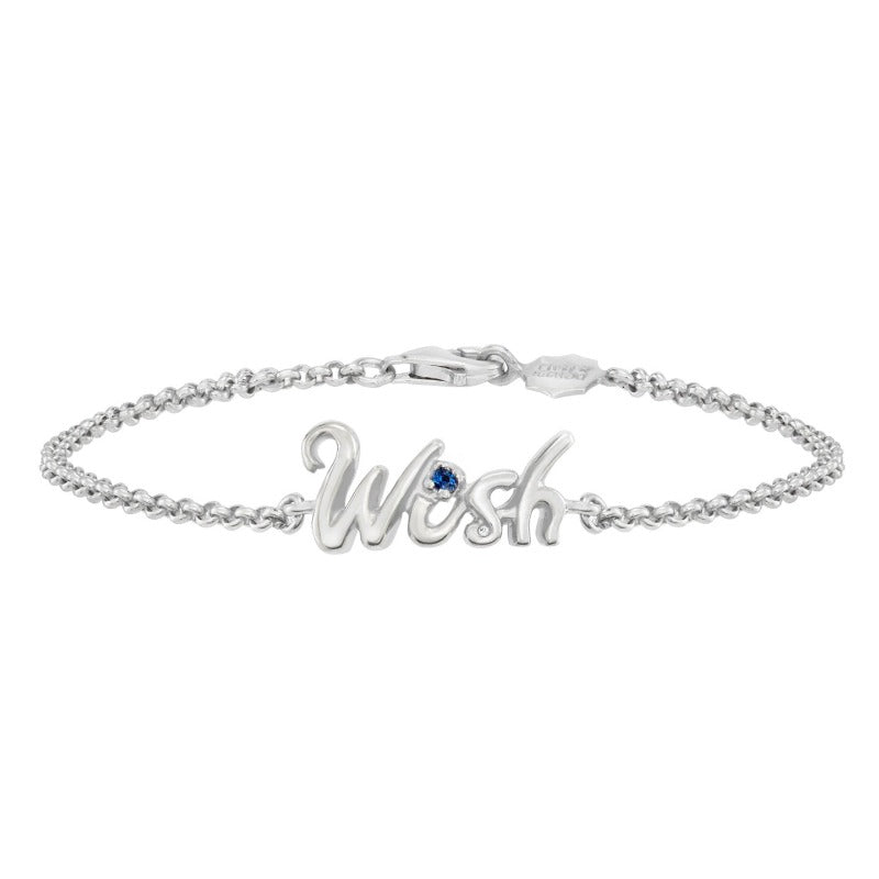 'Wish' Luscious Letters Bracelet with Blue sapphire