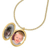 Blue Sapphire 26mm Oval Lumiere Locket