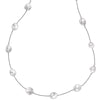 White Baroque Pearl Chain Long Necklace