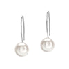 10mm White Freshwater Pearl Drop Earrings
