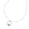 Adjustable Chain & Dove Grey Luna Pearl Pendant