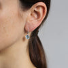 8mm Aquamarine Claw-Set Twinkle Drop Earrings