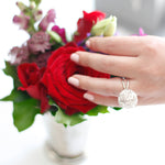 Statement Wild Rose Sphere Ring
