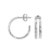 Double Bar Nomad Hoop Earrings