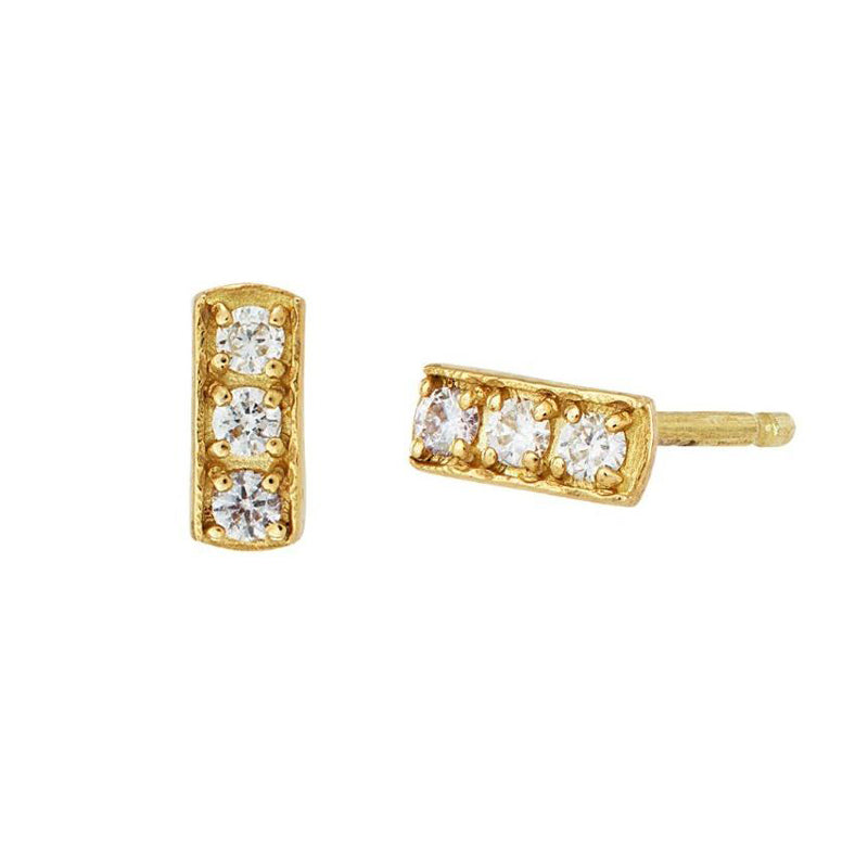 Diamond Trio Nomad Ear-studs