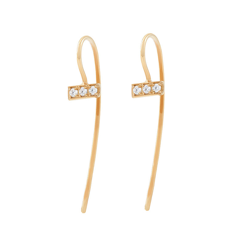 Diamond Trio Nomad Drop Earrings