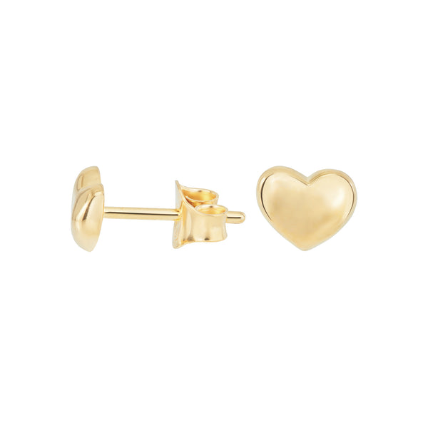 Lucky Pebble Heart Studs