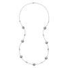 Pebble & Dove Grey Baroque Pearl Long Necklace