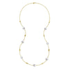 Pebble & White Baroque Pearl Long Necklace