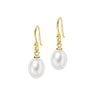 8mm Oval White Freshwater Pearl Earrings