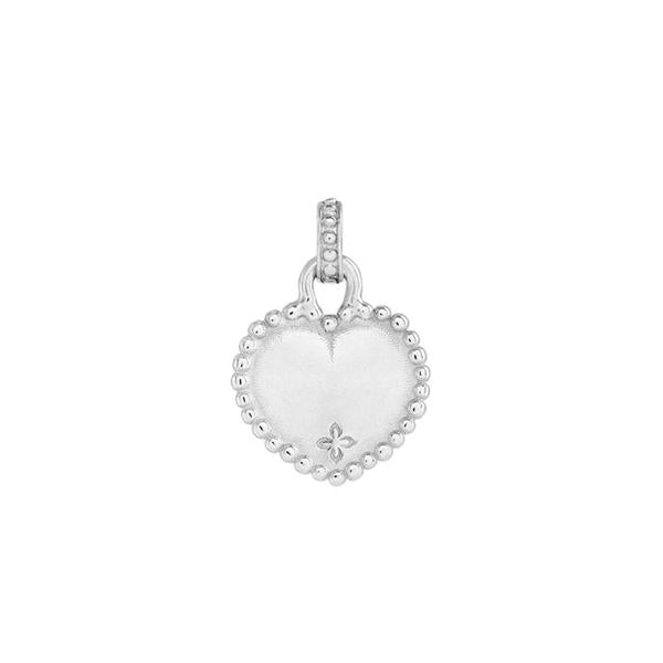 Small Engravable Dotty Heart Story Charm
