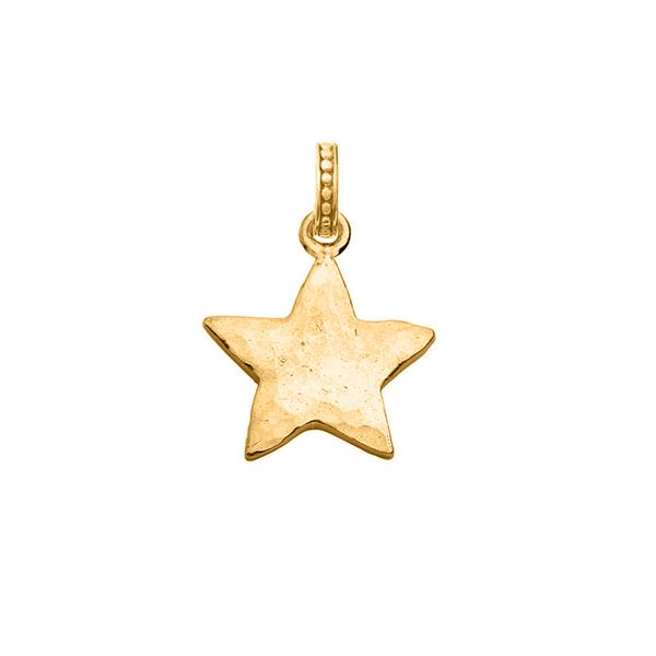 Small Hammered Star Story Charm