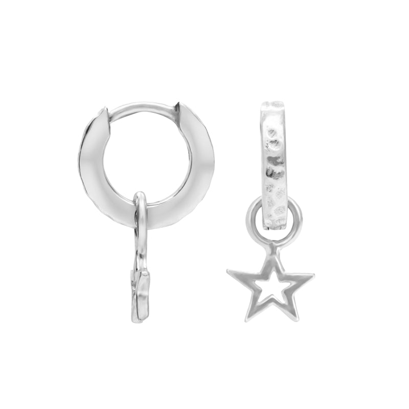Hammered Star Charm Story Hoops