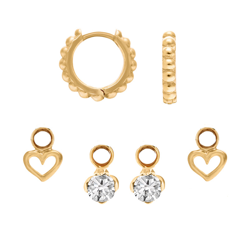 Dotty Story Hoops Heart & Lotus Set