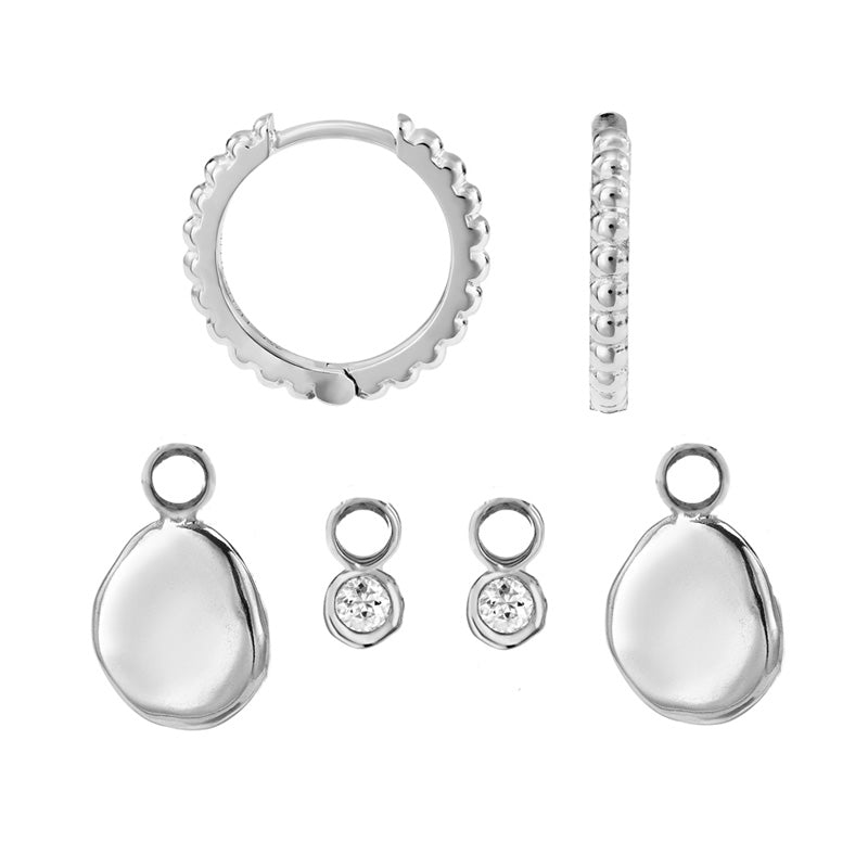 Dotty Story Hoops Pebble & Dewdrop Set
