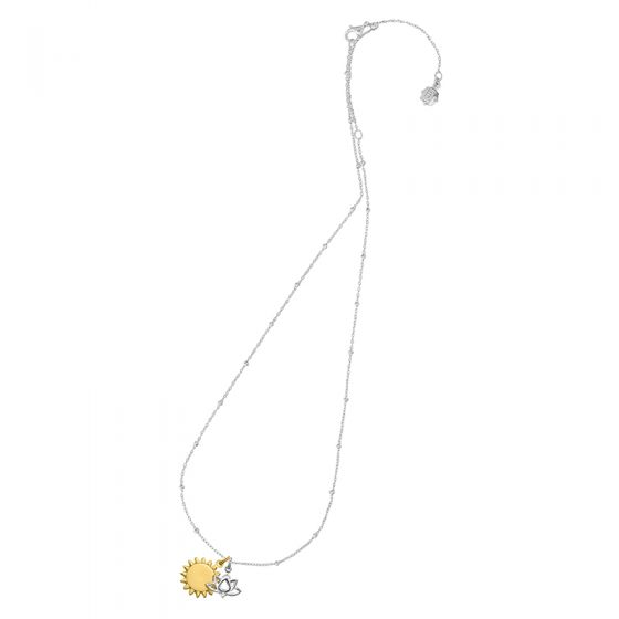 Engravable Sun & Lotus Story Necklace