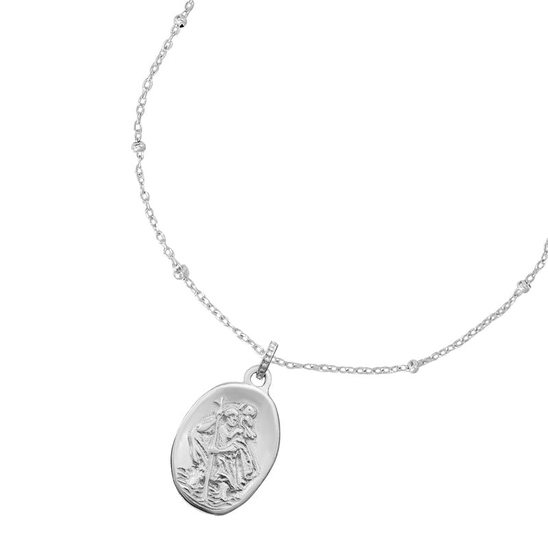 Engravable St. Christopher Story Necklace