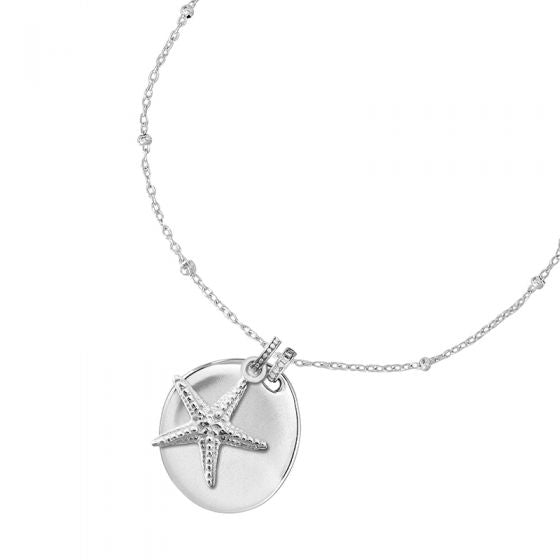 Engravable Pebble & Starfish Story Necklace