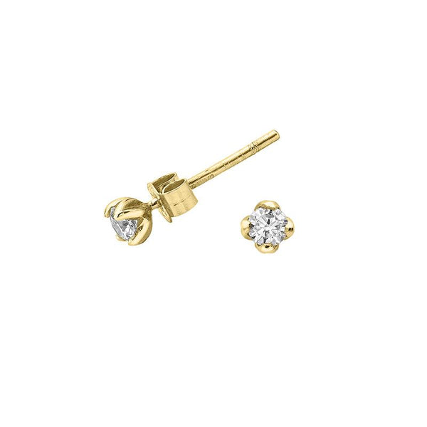 3mm White Diamond Lotus Studs - 0.20CT