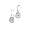 Disc & Diamond Twinkle Drop Earrings - 0.04CT