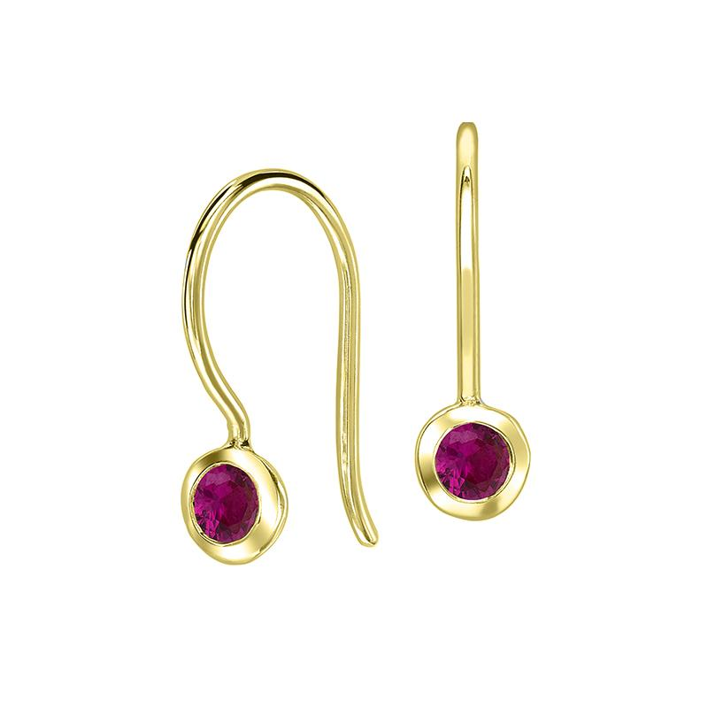 Ruby Twinkle Drop Earrings