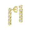 White Sapphire Line Twinkle Drop Earrings
