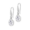 Oval White Topaz Twinkle Drop Earrings