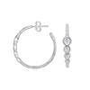 White Topaz Twinkle Hoop Earrings