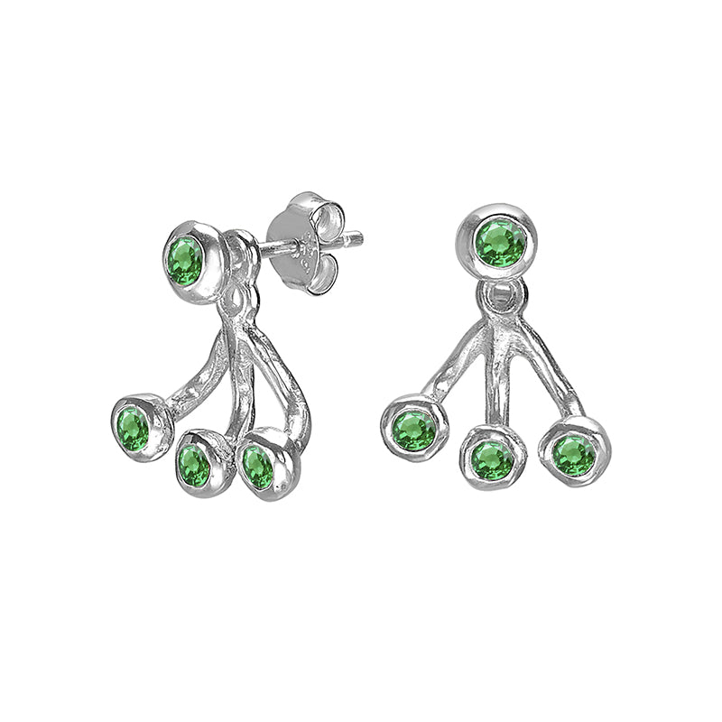Green Garnet Twinkle Ear Jackets
