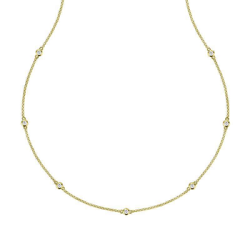 Long White Sapphire Twinkle Chain Necklace