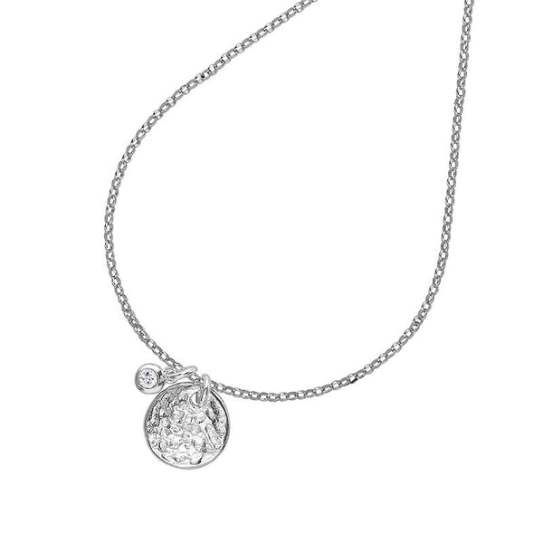 Disc & Diamond Twinkle Pendant - 0.04CT
