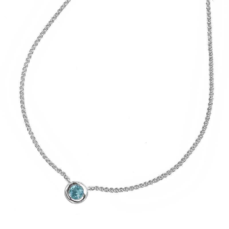 Dewdrop Pendant with Aquamarine - 0.25CT