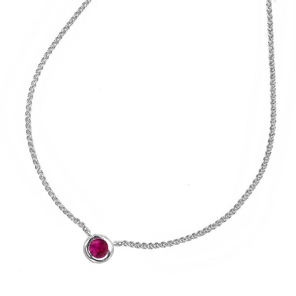 Ruby Round Twinkle Pendant