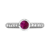 5mm Ruby Granular Dotty Twinkle Ring
