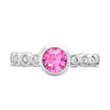 5mm Pink Sapphire Dewdrop Twinkle Ring