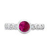 5mm Ruby Dewdrop Twinkle Ring