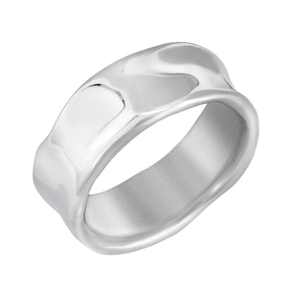 Men's Wide Waterfall  Ring