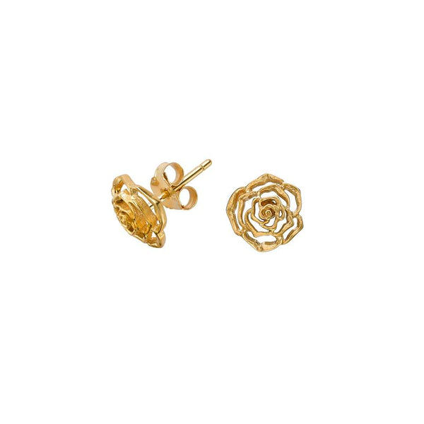 10mm Wild Rose Flower Studs