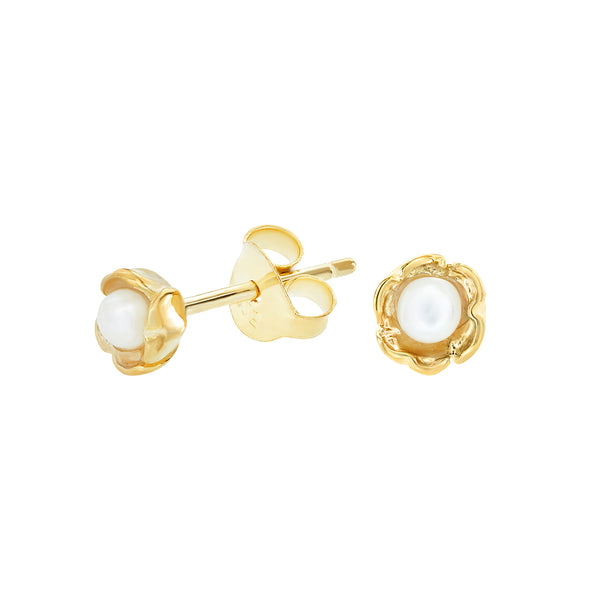 Wild Rose Pearl Studs