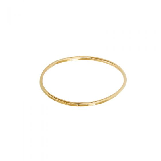 1mm Hammered Skinny Ring
