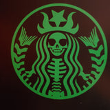 Skeleton Siren Permanent Vinyl Decal