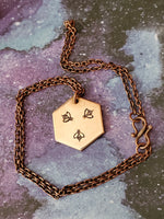 Save the Bees Honeycomb Necklace - Profitsharing to Local Beekeepers