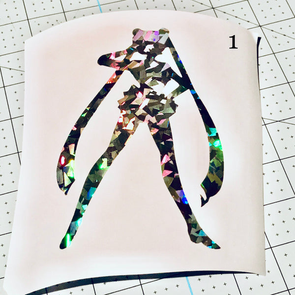 Sailor Moon, Pretty Guardian Holographic Crystal Vinyl Decal