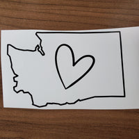 Washington State Pride Permanent Vinyl Decal - 3 Designs