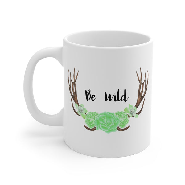 Be Wild Green Mug 11oz