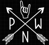 PNW Rock Local Scene Pride Permanent Vinyl Decal